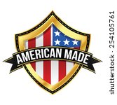 made in the usa   shield | Shutterstock .eps vector #254105761