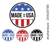 made in the usa   shield | Shutterstock .eps vector #254105785