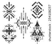 vector tribal elements  ethnic... | Shutterstock .eps vector #254108257