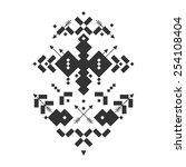 vector tribal elements  ethnic... | Shutterstock .eps vector #254108404