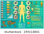 set of health care infographic... | Shutterstock .eps vector #254113831