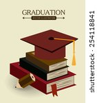 education design over beige... | Shutterstock .eps vector #254118841