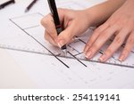 architectural design and... | Shutterstock . vector #254119141