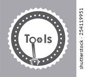 tools icon design  vector... | Shutterstock .eps vector #254119951