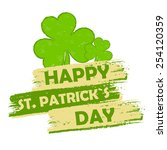 happy st. patrick's day   text... | Shutterstock .eps vector #254120359