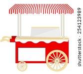 ice cream red cart vector icon...   Shutterstock .eps vector #254123989