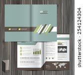 classic brochure template...   Shutterstock .eps vector #254124304