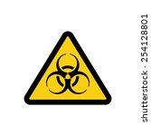 the biohazard icon. biohazard... | Shutterstock .eps vector #254128801
