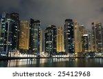 dubai marina at night  united... | Shutterstock . vector #25412968