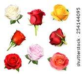 white rose  vector illustration | Shutterstock .eps vector #254144095