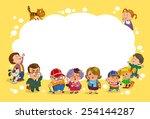 funny cartoon. vector... | Shutterstock .eps vector #254144287