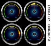 colorful round meter gauge...   Shutterstock .eps vector #254145895