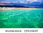 Transparent Green whater of the Thyrenian sea in Sardinia, Italy - stock photo