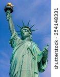 liberty statue new york... | Shutterstock . vector #254148331