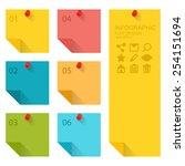 flat design of infographics... | Shutterstock .eps vector #254151694