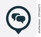 conversation icon map pin on...