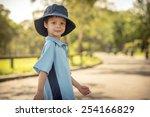 mixed race asian caucasian boy... | Shutterstock . vector #254166829