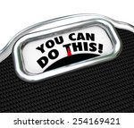 you can do this words on a... | Shutterstock . vector #254169421