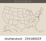 map of usa with separable... | Shutterstock .eps vector #254180029