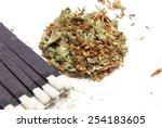 marijuana and tobacco  smoking  | Shutterstock . vector #254183605