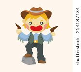 cowboy theme elements | Shutterstock .eps vector #254187184