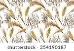 watercolor cereals. wheat ... | Shutterstock .eps vector #254190187