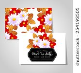 wedding invitation cards with... | Shutterstock .eps vector #254193505