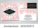 wedding invitation cards with... | Shutterstock .eps vector #254193571
