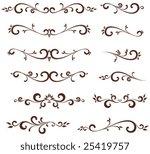 vectorized scroll design.... | Shutterstock .eps vector #25419757