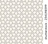 vector seamless pattern. linear ... | Shutterstock .eps vector #254198599