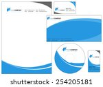 set of corporate identity items ... | Shutterstock .eps vector #254205181