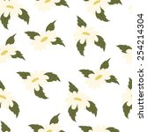 vector pattern with daisies   Shutterstock .eps vector #254214304