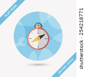 compass flat icon with long... | Shutterstock .eps vector #254218771