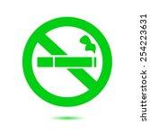 no smoke icon. stop smoking... | Shutterstock .eps vector #254223631