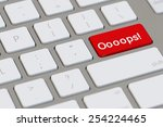 oops as symbol for error in a... | Shutterstock . vector #254224465