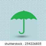 umbrella protecting world plane  | Shutterstock .eps vector #254226835