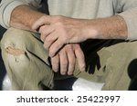 hands  wrinkles  an old age  a... | Shutterstock . vector #25422997