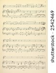 Old Yellowed Sheet Music For...