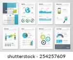 set of infographic brochure... | Shutterstock .eps vector #254257609