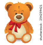 Cute Happy Teddy Bear Toy With...