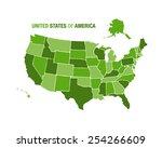 vector illustration of a united ... | Shutterstock .eps vector #254266609