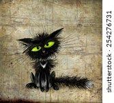Black Kitten With Green Eyes...
