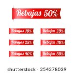 spanish sale labels | Shutterstock .eps vector #254278039