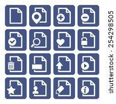 file management icons set   Shutterstock .eps vector #254298505