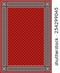 frame   border with red... | Shutterstock .eps vector #254299045