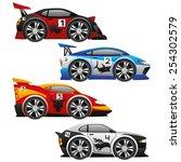 vector set. cars. | Shutterstock .eps vector #254302579