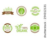 round eco green stamp label of... | Shutterstock .eps vector #254312131