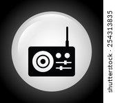 sound icon design  vector... | Shutterstock .eps vector #254313835