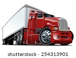 cartoon semi truck. available... | Shutterstock .eps vector #254313901