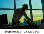 silhouette builder engineer... | Shutterstock . vector #254319541